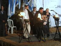 Four generations lighting the torch