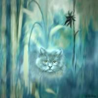 CAT HIDING //  RITA WHALEY by Rita Whaley