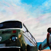 """""""Surf Bus Series The Green Bus"""" by arthop77"""