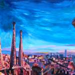 """Barcelona City View And Sagrada Familia"" by arthop77"