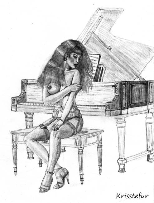 Me, please Black and white photos nude women playing piano think
