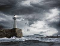 Lighthouse-On-Cliff-In-Storm