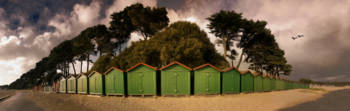 Beach Huts on an Autumn Afternoon