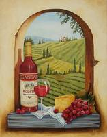 Tuscan Still Life with Grapes