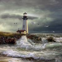 """Lighthouse Guidig Light"" by Unique_designs"