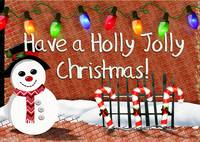 Holly Jolly Snowman Christmas Decor