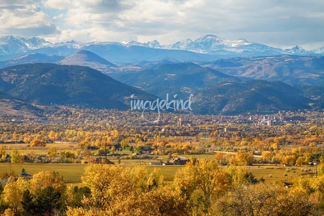 Boulder Colorado Autumn Scenic View
