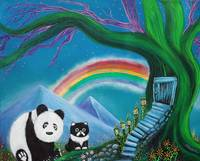 The Panda The Cat and The Rainbow