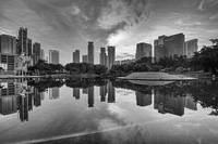 Sunrise at KLCC Park (B&W)