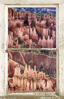 Bryce Canyon View Through A White Rustic Window Fr