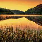 Sunset over Scottish Loch Prints & Posters