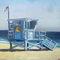 """Lifeguard Tower Zuma Beach"" by letspainttv"