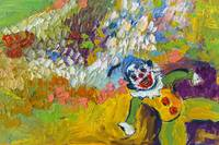 Clown Palette Knife Oil Painting