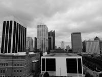 Columbus skyline black and white