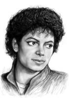 Michael Jackson art long drawing sketch poster