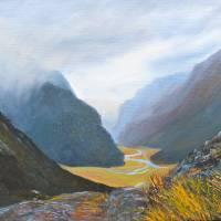 Routeburn Mountain Pass Art Prints & Posters by Helen Blair