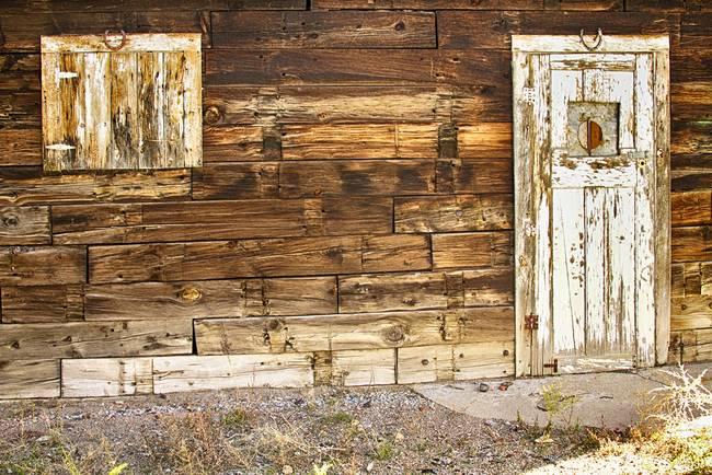 Rustic Old Colorado Barn Door and Window
