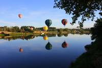 Balloons Heading East by Carol Groenen