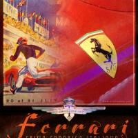 ferrari collage poster by r christopher vest