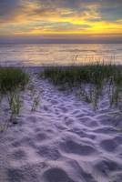 michigan.pierport.beach.path.sunset.23