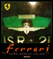 ferrari poster in green