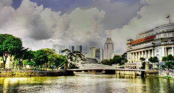 Urban City Singapore Singapore River Hdr By Optic Shoot
