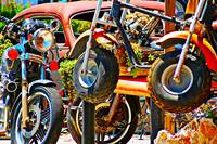 Motorcycles At The Hog Pen, Leakey, Texas