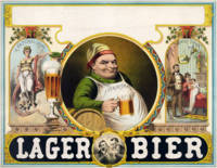 Vintage Lager Beer Advertisement