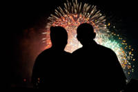 President Obama and First Lady Watch Fireworks