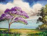 Jacaranda Tree by Mazz Original Paintings
