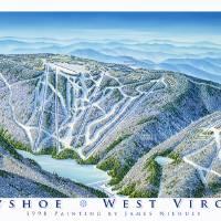 """""""Snowshoe Resort, West Virginia"""" by jamesniehuesmaps"""