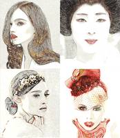 Women portraits poster