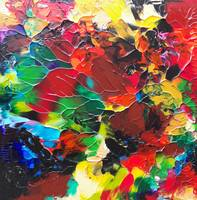Multicolor Abstract Red