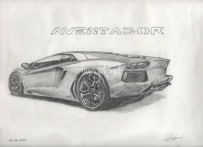 Aventador drawing by youandih 2013