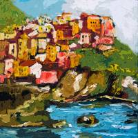 """Monarolla Cinque Terre Italy Art by Ginette"" by GinetteCallaway"