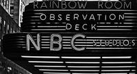 NBC Studios Sign BW
