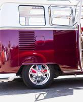 VW Bus Red with Reflections