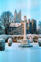 Canterbury Cathedral in Snow 2 by Priscilla Turner