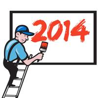 New Year 2014 Painter Painting Billboard