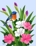Eastern Bluebird by Pixel Paint Studio