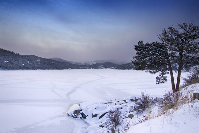 Nederland Colorado Barker Reservoir Winter View