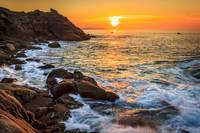Sunset at Coitelada Ares Galicia Spain
