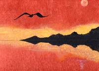 Seagull in a Copper Sky