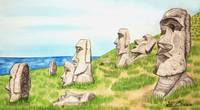 Easter Islands Illustration