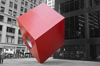 Red Cube color pop