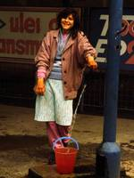Romania_woman with water bucket