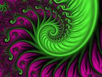 Abstract Neon Colors Fractal