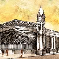 Estacion de Ferrocarril Art Prints & Posters by Pedro Florentin Demestri