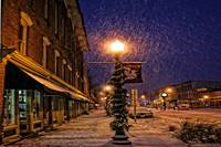 Snowy Night In Depot Town