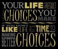 Choices Motivational Quote Poster (Black/Neutral)